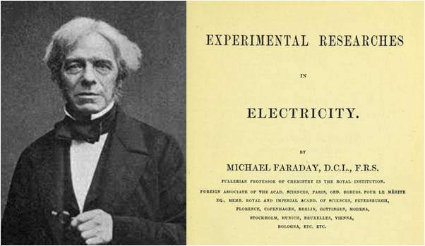 Image: Experimental Researches in Electricity by Michael Faraday