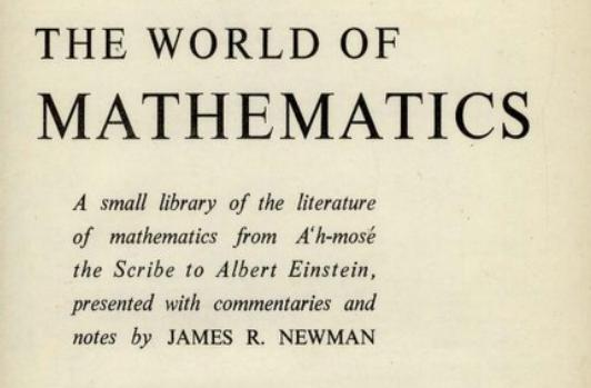 Image: The World of Mathematics by James Roy Newman